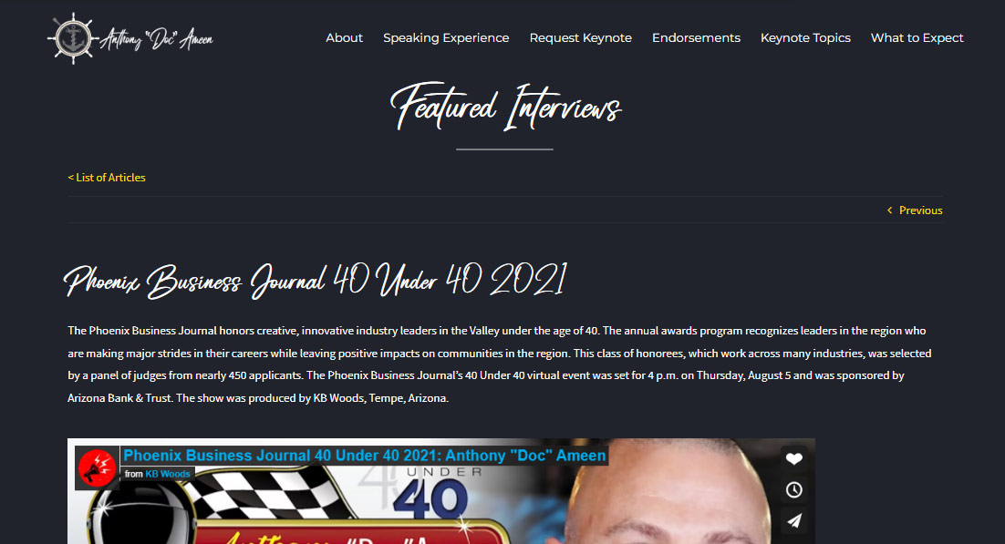 Anthony Doc Ameen Post Forty Under 40