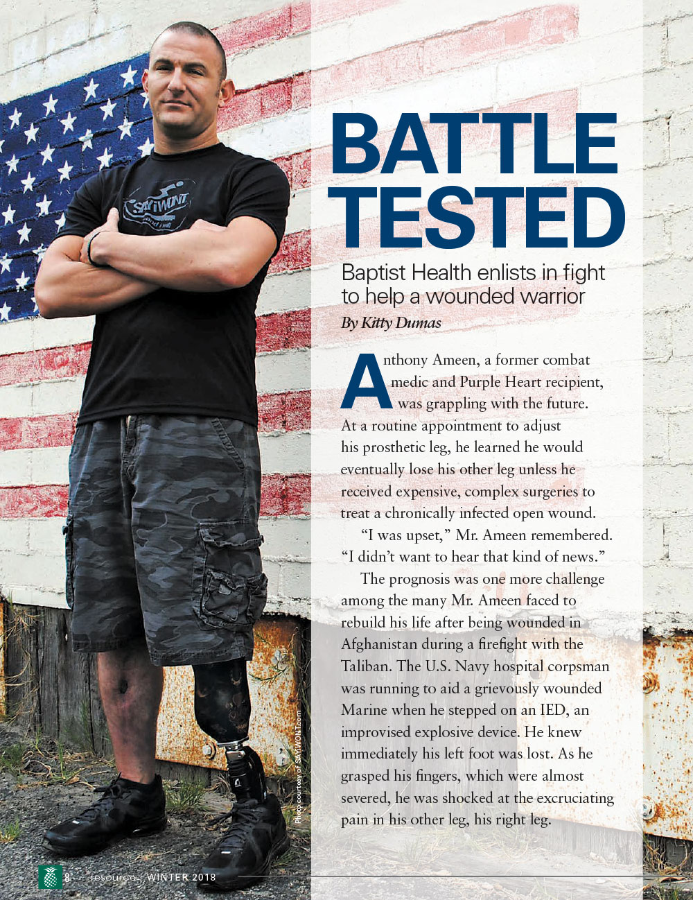 Battle Tested - Baptist Health Enlists in Fight to Help a Wounded Warrior